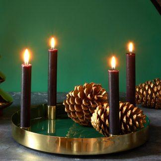 Weihnachtsdeko Tablett mit Kerzenhalter LAYER GiftCompany ø 32 cm
