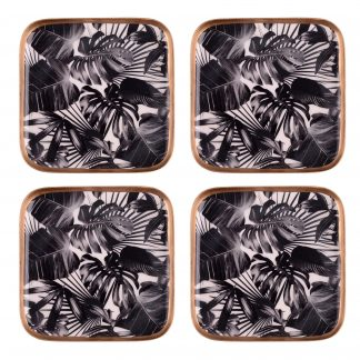 Untersetzer SAIGON BLACK LEAVES GiftCompany Metall 10x10 cm