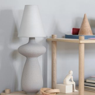 Tischlampe BALUSTRE Kähler marmorgrau H 56 cm