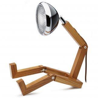 Design Tischlampe MR. WATTSON PIFFANY Copenhagen Fashion Black H 40 cm aus Eschenholz