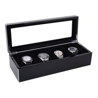 "Uhrenbox ""TANG"" GiftCompany schwarz 33x8x12cm"