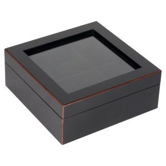"Uhrenbox ""TANG"" GiftCompany schwarz 19x7,6x19cm"