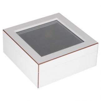"Uhrenbox ""TANG"" GiftCompany weiß 19x7,6x19cm"