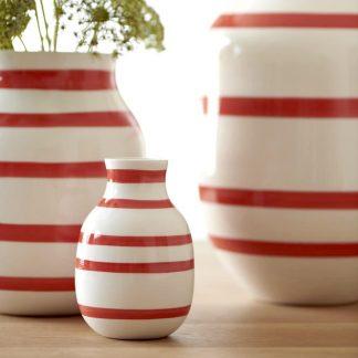 Vase OMAGGIO Kähler scarlet ø 12,5 cm