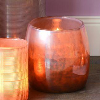 Vasen / Windlicht LINEN GiftCompany metallic H 17,0 cm