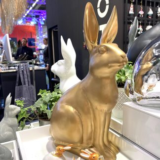 Osterhase FRAU SCHMIDT GiftCompany gold H 44 cm
