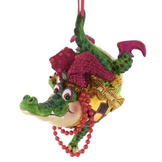 Weihnachtsbaumschmuck TANZENDES KROKODIL GiftCompany H 8 cm