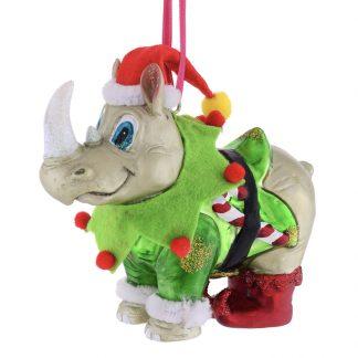 Weihnachtsbaumschmuck NASHORN-ELFE GiftCompany H 11 cm