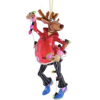 Weihnachtsbaumschmuck TANZENDES RENTIER GiftCompany H 15 cm