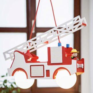 Kinderzimmerlampe ELOBRA Pendelleuchte Feuerwehr mit FRED