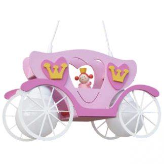 Kinderzimmerlampe ELOBRA Pendelleuchte Kutsche mit Prinzessin LEIA