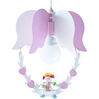Kinderzimmerlampe ELOBRA Pendelleuchte Schaukel mit Prinzessin LEIA