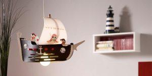 Kinderzimmerlampen ELOBRA Piratenschiff JACK