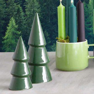 Deko Tannenbaum ASA grün H 19,0 | 13,8 cm