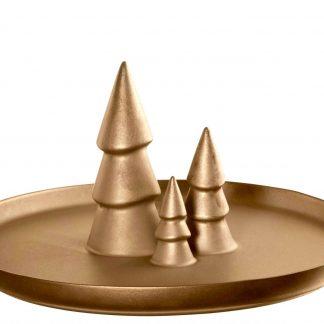 Weihnachtsteller mit drei Tannenbäumen ASA ferro ø 30 cm