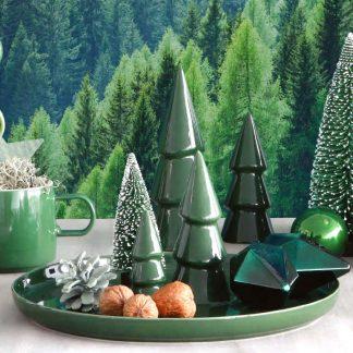 Weihnachtsteller mit drei Tannenbäumen ASA grün ø 30 cm