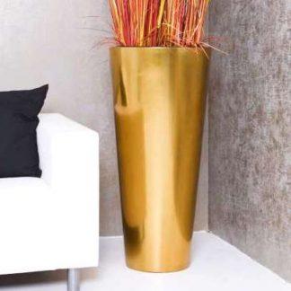 Bodenvase CIARA Hochglanz gold H 80 cm