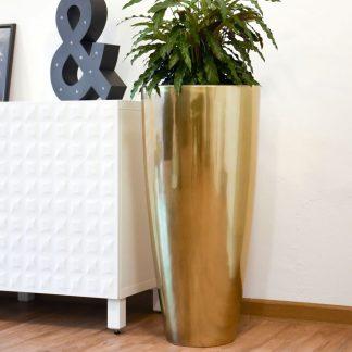 Bodenvase CECILE Hochglanz gold metallic H 80 cm