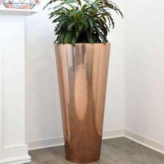 Bodenvase CIARA Hochglanz rosegold H 80 cm