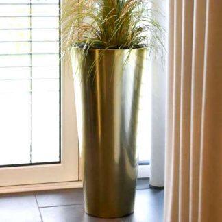 Bodenvase CIARA Hochglanz gold H 100 | 80 cm