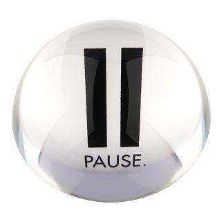 "Briefbeschwerer LOURD GiftCompany ""PAUSE"" Kristallglas ø 9,8 cm"