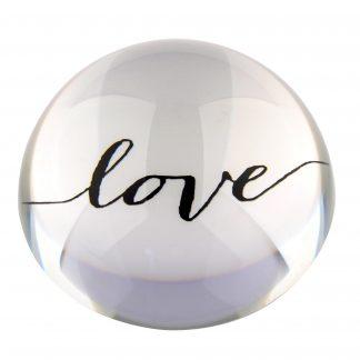 "Briefbeschwerer LOURD GiftCompany ""LOVE"" Kristallglas ø 9,8 cm"