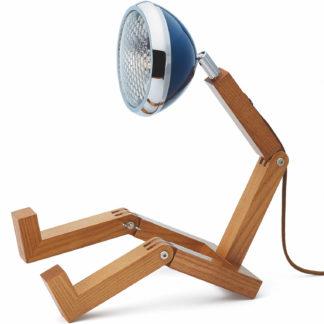 Design Tischlampe MR. WATTSON Lampe Cobra Blue Piffany Copenhagen aus Eschenholz H 40 cm