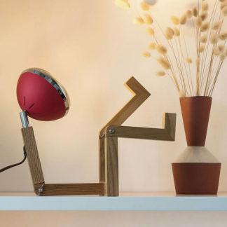 Design Tischlampe MR. WATTSON Lampe Dream Red Piffany Copenhagen aus Eschenholz H 40 cm