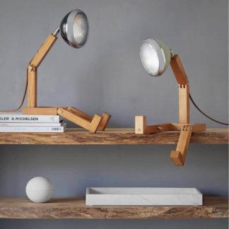 Design Tischlampe MR. WATTSON Lampe Fashion Black & Desert Green Piffany Copenhagen aus Eschenholz H 40 cm