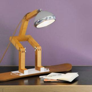 Design Tischlampe MR. WATTSON Lampe Nardo Grey Piffany Copenhagen aus Eschenholz H 40 cm