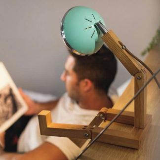 Design Tischlampe MR. WATTSON Lampe Tiffany Green Piffany Copenhagen aus Eschenholz H 40 cm
