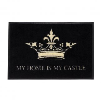 Fußmatte waschbar MY HOME IS MY CASTLE GiftCompany 50 x 75 cm