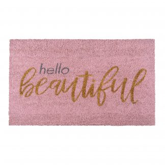 Fußmatte Kokos HELLO BEAUTIFUL GiftCompany 45 x 75 cm