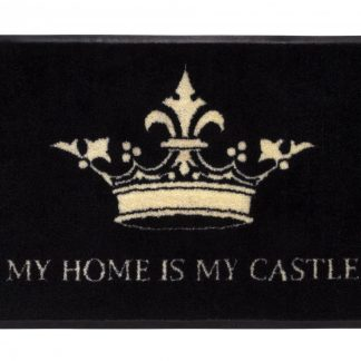 Fussmatte waschbar MY HOME IS MY CASTLE GiftCompany 50 x 75 cm
