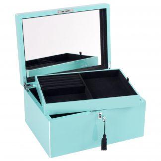Schmuckkästchen Schmuckbox TANG GiftCompany park avenue blue B 31 cm