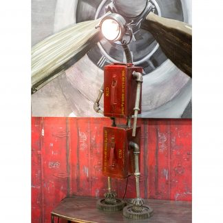Stehlampe ROBOT Casablanca rot H 119 cm