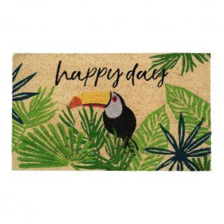 Fußmatte Kokos HAPPY DAY/TUKAN GiftCompany 45 x 75 cm