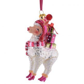 Weihnachtsbaumschmuck ALPAKA MIT GESCHENEKEN GiftCompany H 14 cm