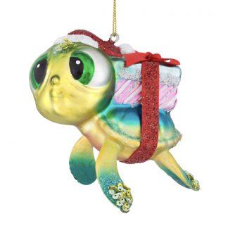 Weihnachtsbaumschmuck TURTLE MIT GESCHENK GiftCompany H 12 cm