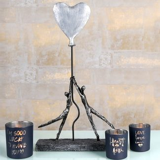 Windlicht LOVELY Casablanca 3er Set H 10 cm