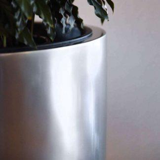 Bodenvase Cecile Hochglanz Silber Metallic H 100 80 Cm 4 324x324