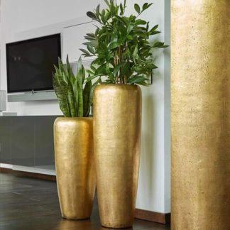 Bodenvase HARMONY gold Höhe 75 | 97 cm