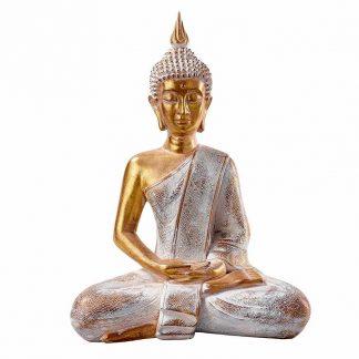 BUDDHA sitzend gold H 41 cm