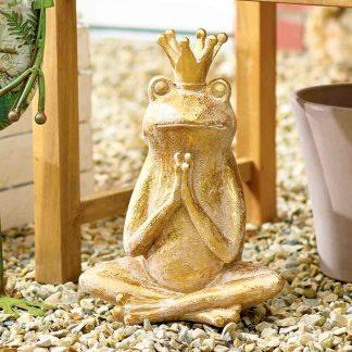 Frosch ALBERT mit Krone H 35 cm