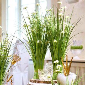 Kunstblume GRASBUSCH mit Blüten H 70 | 110 | 120 cm