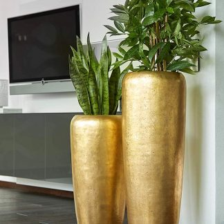 Bodenvase / Pflanzkübel HARMONY gold H 75|97|117 cm