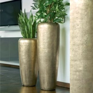 Bodenvase HARMONY gold H 75|97 cm