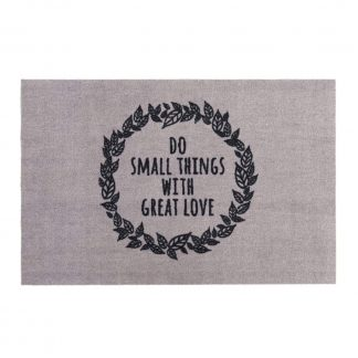 Fußmatte Kitchen DO SMALL THINGS WITH GREAT LOVE waschbar GiftCompany 50 x 75 cm