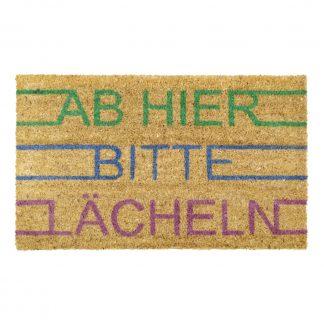 Fußmatte Kokos AB HIER BITTE LÄCHELN GiftCompany 45 x 75 cm