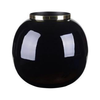Vase SAIGON GiftCompany bauchig schwarz/gold ø 25 | 13 cm